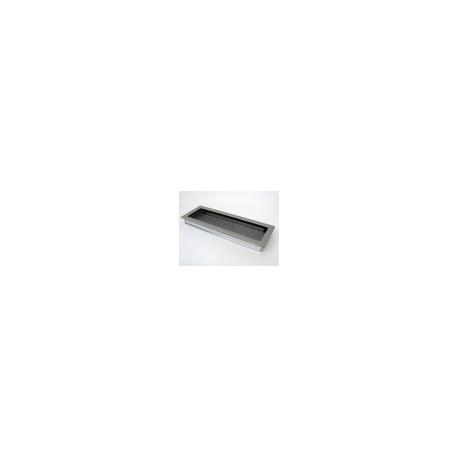 Kovová mriežka matná nerez 17x49 bez žalúzie