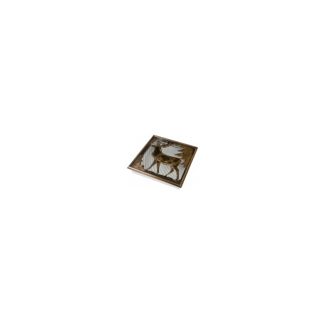 Kovová mriežka  - Jeleň   30 x 30 cm
