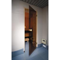 Saunové dvere - celosklenené/bronzové,bezprahové