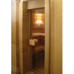 Saunové dvere Domino - celosklenené/bronzové