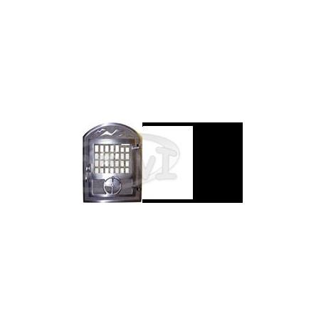 Krbové liatinové dvierka so sklom - IMK    farba: čierna