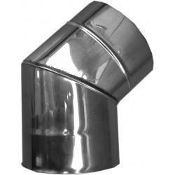 Nerezový dymovod - koleno o 100 / 45° / 0,6mm