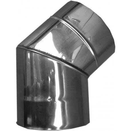Nerezový dymovod - koleno o 150 / 45° / 0,6mm