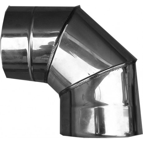 Nerezový dymovod - koleno o 160 / 90° / 0,6mm