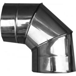 Nerezový dymovod - koleno o 250 / 90° / 0,6mm