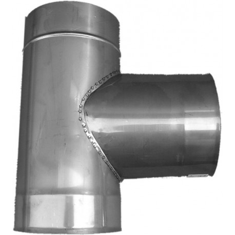 Nerezový dymovod - T kus o 100 / 90° / 0,6mm