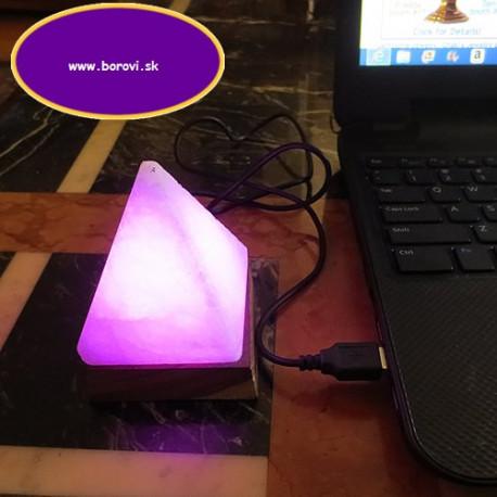 Soľné lampy - USB - led pyramída - 0,35-0,45kg