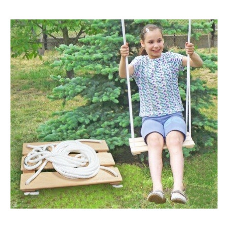 Detská drevená hojdačka - natur