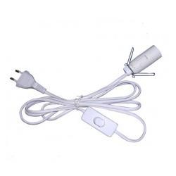 Prívodný elektrický kábel s vypínačom a objímkou na žiarovku E14