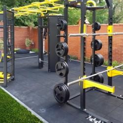 Športové povrchy - fitnes guma červená - 100x100x2 cm