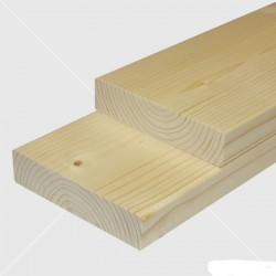 Saunové laty - Smrek - thermowood 27x92 mm